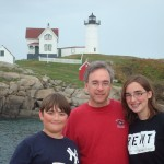 Michael, David and Sarah at The Nubble