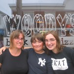 Lisa, Michael and Sarah at Woody's Pizzeria