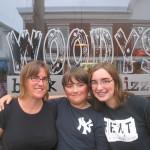 Lisa, Michael and Sarah at Woody's Pizzeria